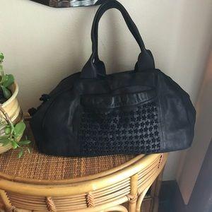 Handbags - Black leather satchel